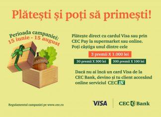 CEC Bank Campanie premii Visa