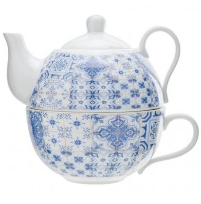 Set ceainic si ceasca de portelan