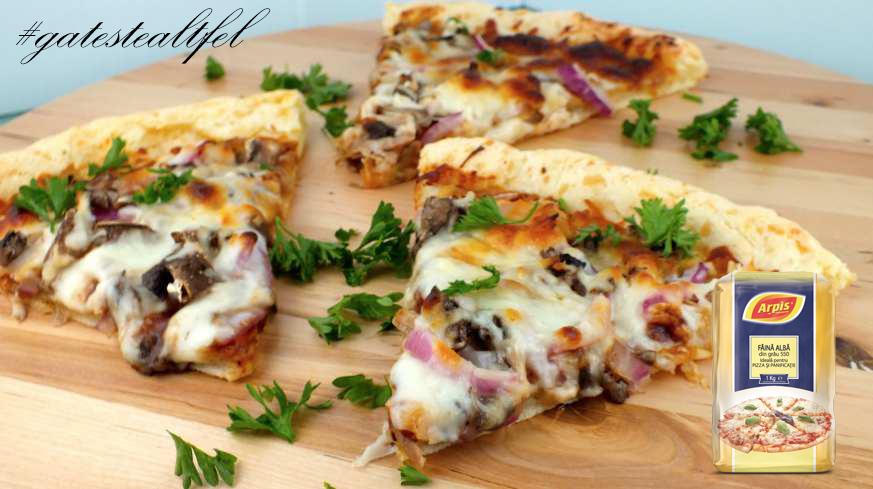 Pizza cu alune si nuci