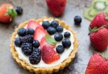 tarta cu fructe si mascarpone